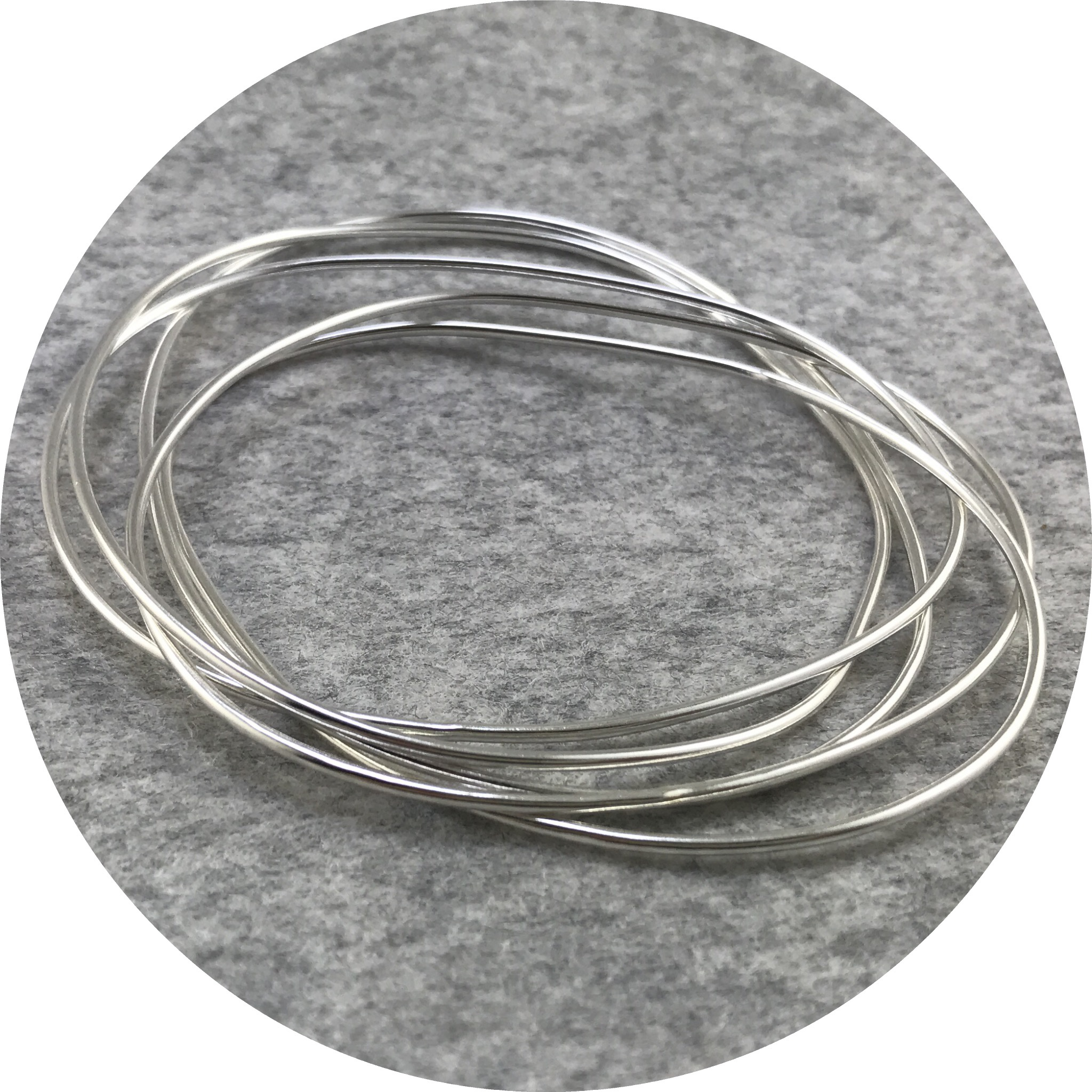 Melissa Gillespie - 'Continuous Circle Bangles', sterling silver