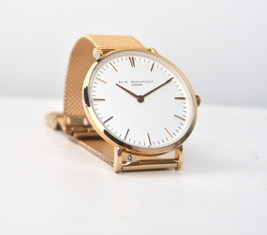 Ellie Beaumont Watch Small Rose Gold Metal