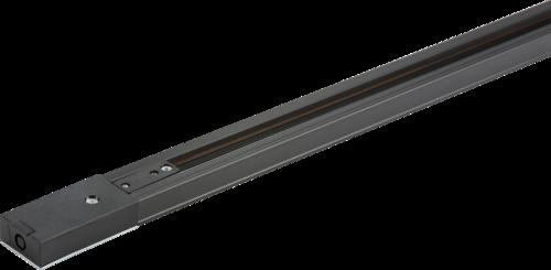 230v Single Circuit Track Black 1Mtr
