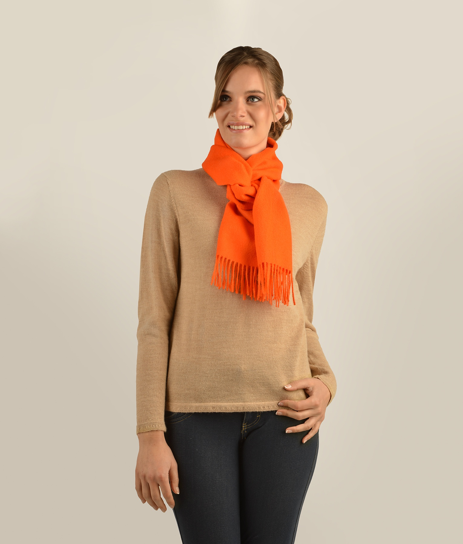 LONG BRUSHED SCARF AM11617