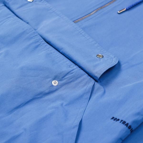 Pop Trading Company DRS Halfzip Hood Jacket Blue