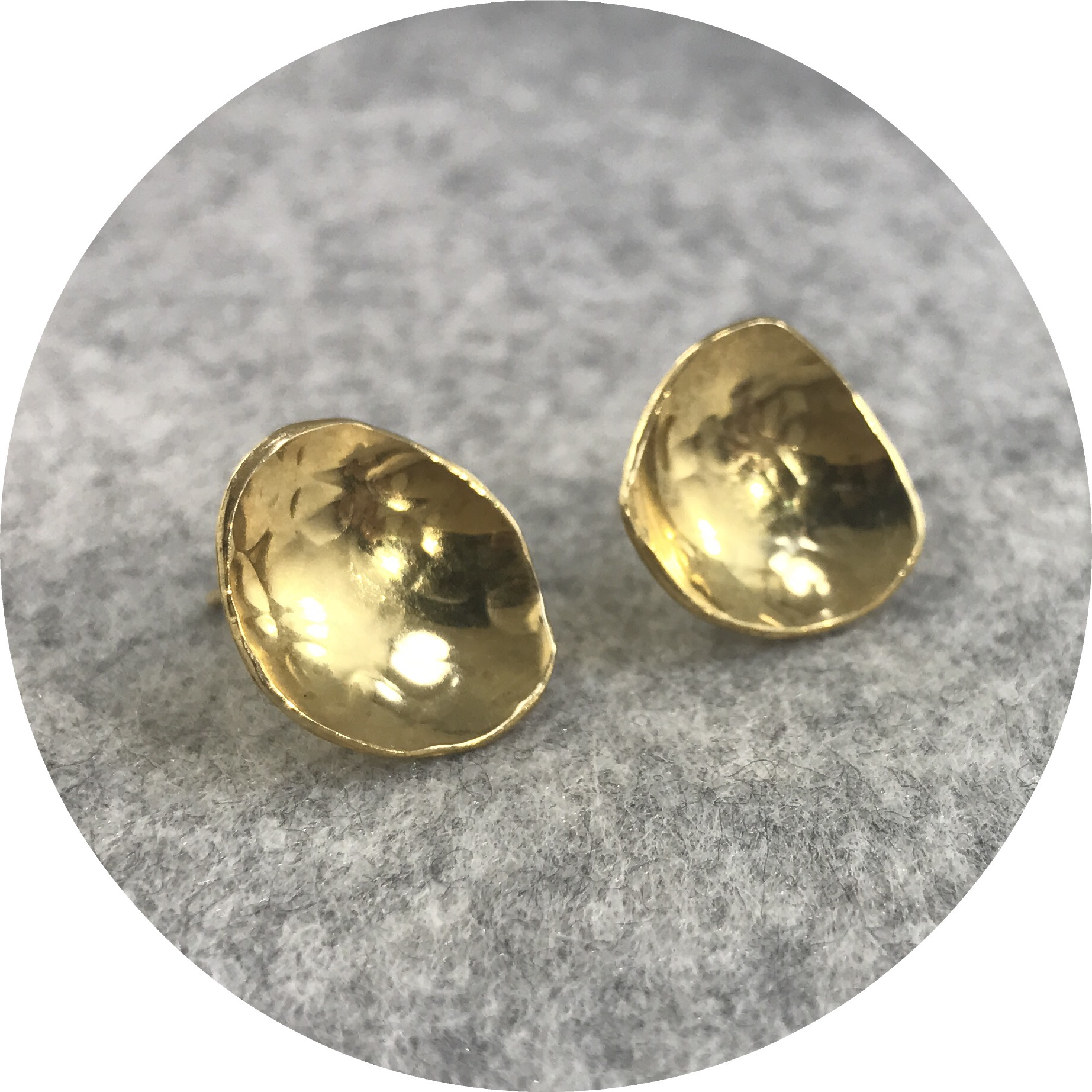 Elodie Darwish - Dish Earrings in Gold Plated Sterling Silver medium