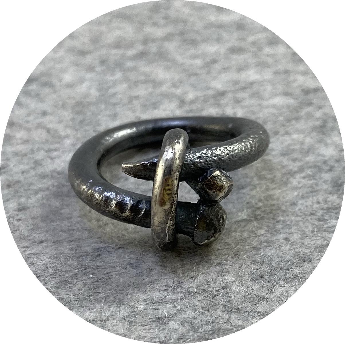 Maria Klingner - 'Nailed It Ring' 925 silver N