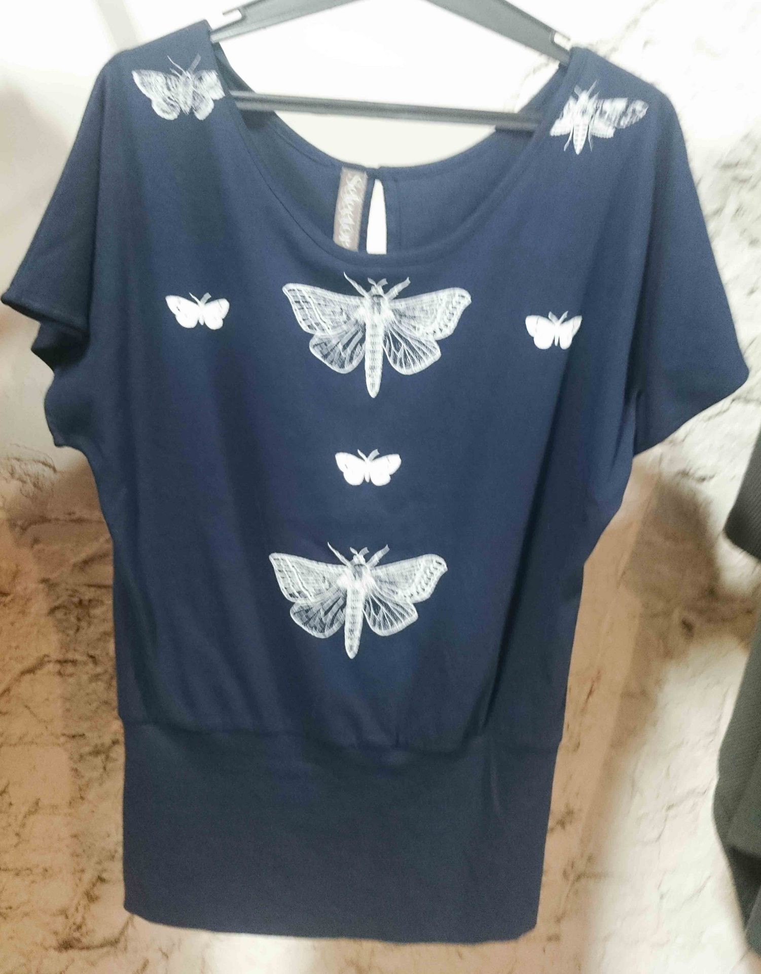 nz moth button top navy