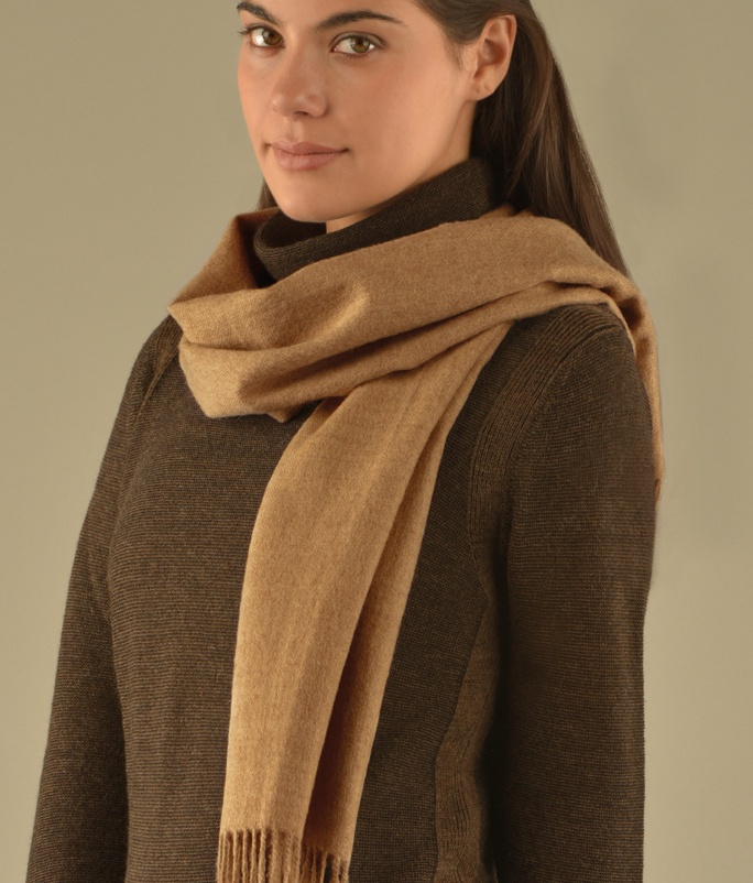 BRUSHED SCARF LIGHT FAWN 203