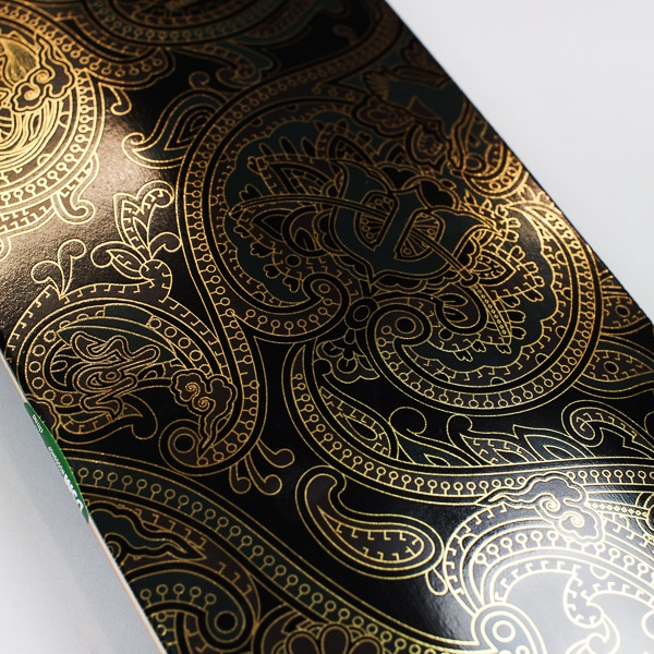 Evisen Paisley Deck Black / Gold 8""
