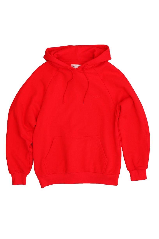 Avenue - Paris Hooded Sweatshirt - Red