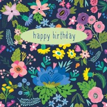 Floral Happy B'day Gift Card