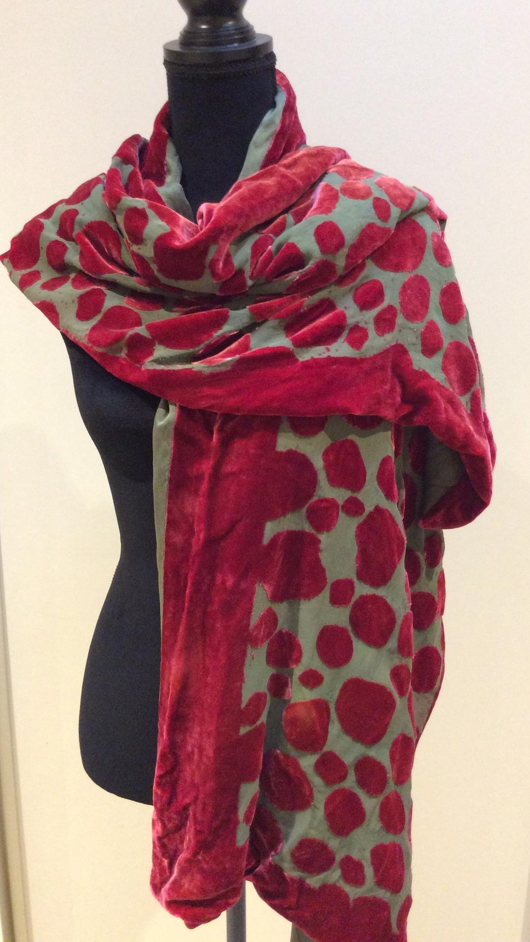 Silk Velvet Devore Lined and Reversible Wrap