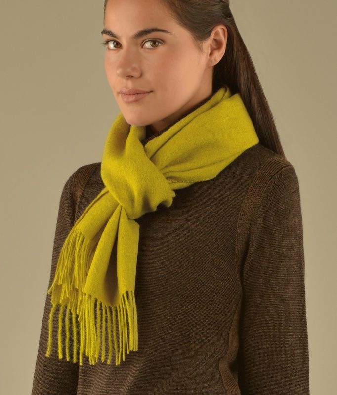 LONG BRUSHED SCARF MUSTARD AM8549