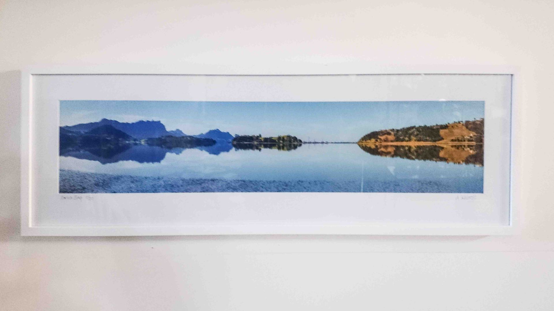 parua bay framed print