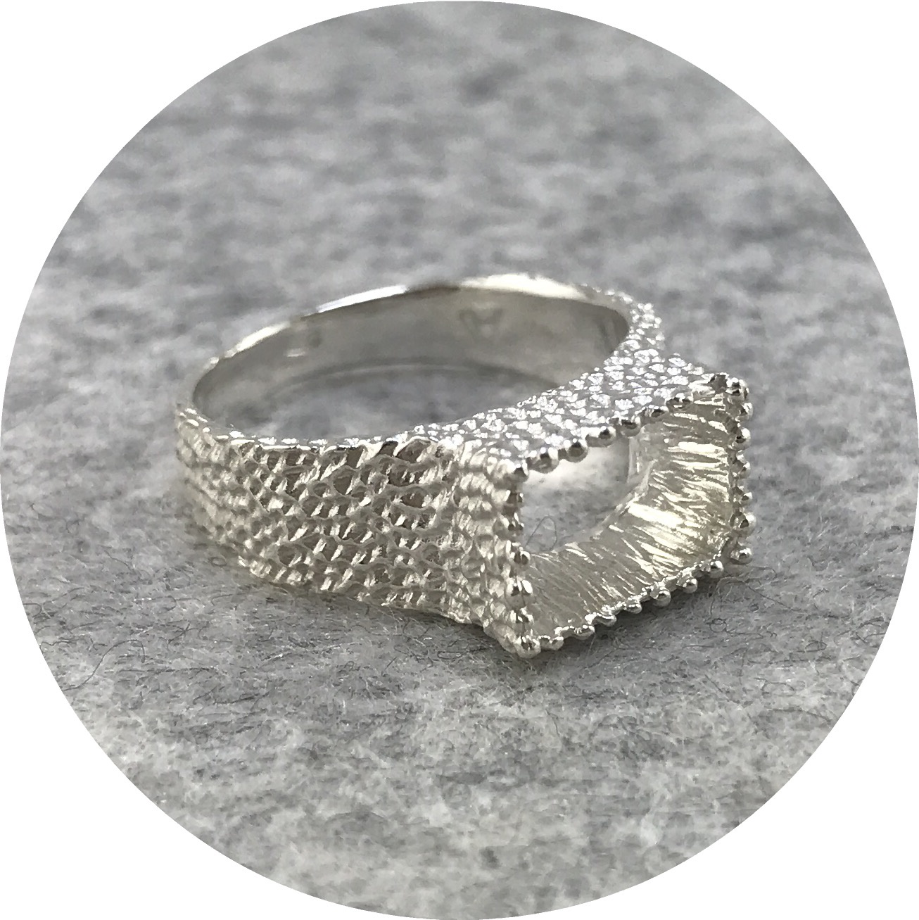 Abby Seymour- Tetra Ring. Sterling silver.