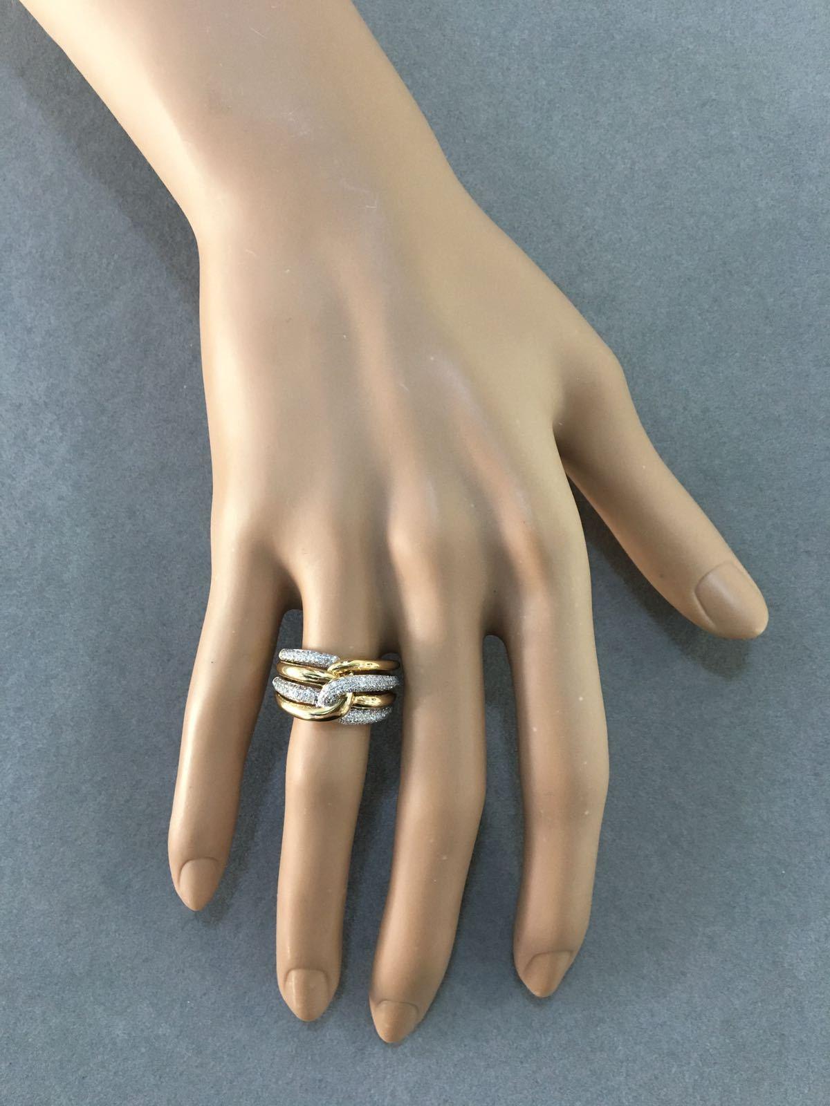 Double Knot Diamond Ring