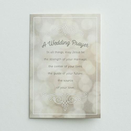 Wedding Prayer   Card A Wedding Prayer The Square Gift Store Ltd