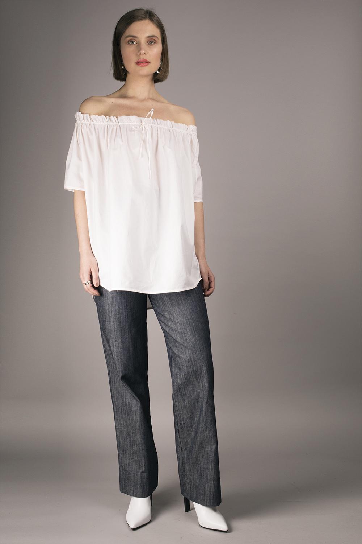 Cathrine Hammel - Gathered Neckline Short Sleeve Image