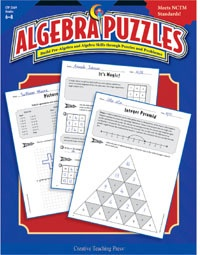 X CTP 2569 ALGEBRA PUZZLES GR.6-8