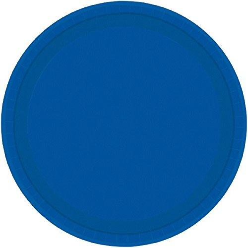 BRIGHT ROYAL BLUE 9 INCH PLATES