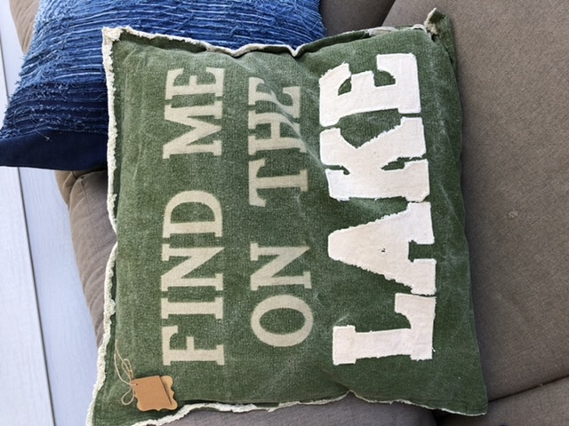 MP-Green Canvas Lake Pillow