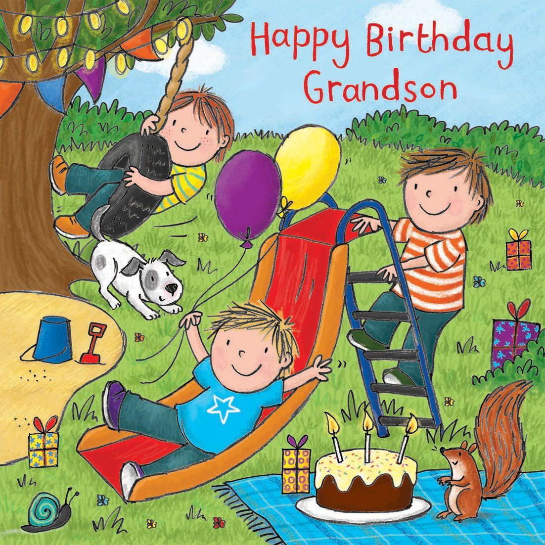 Happy Birthday Grandson Card With Milo TW728