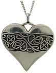 Pendant Pewter Heart Chain