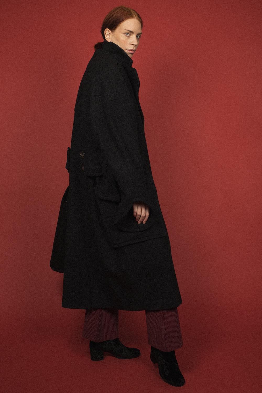 Moiré - Winonna Wool Coat Black