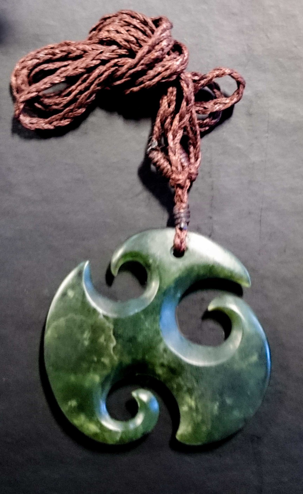 listing design wave solid necklace pendant felt koru bronze previous x