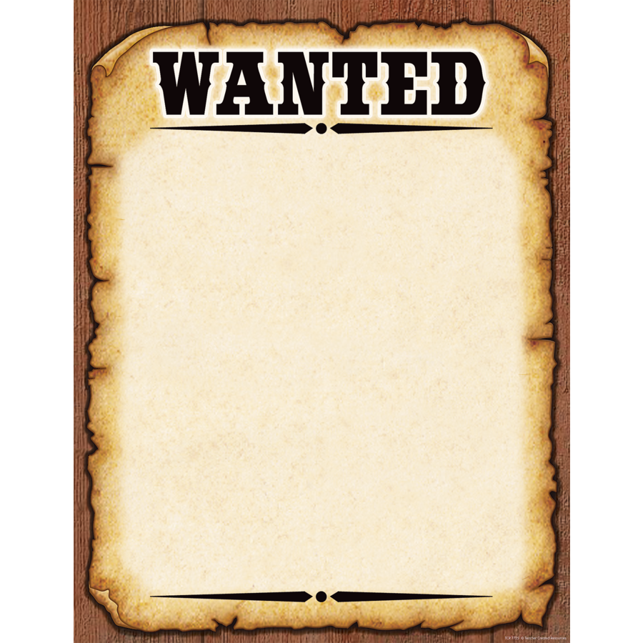X TCR 7725 WANTED BLANK CHART