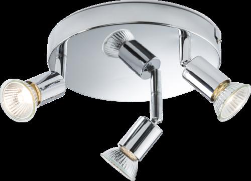 230V GU10 Triple Spotlight - Chrome