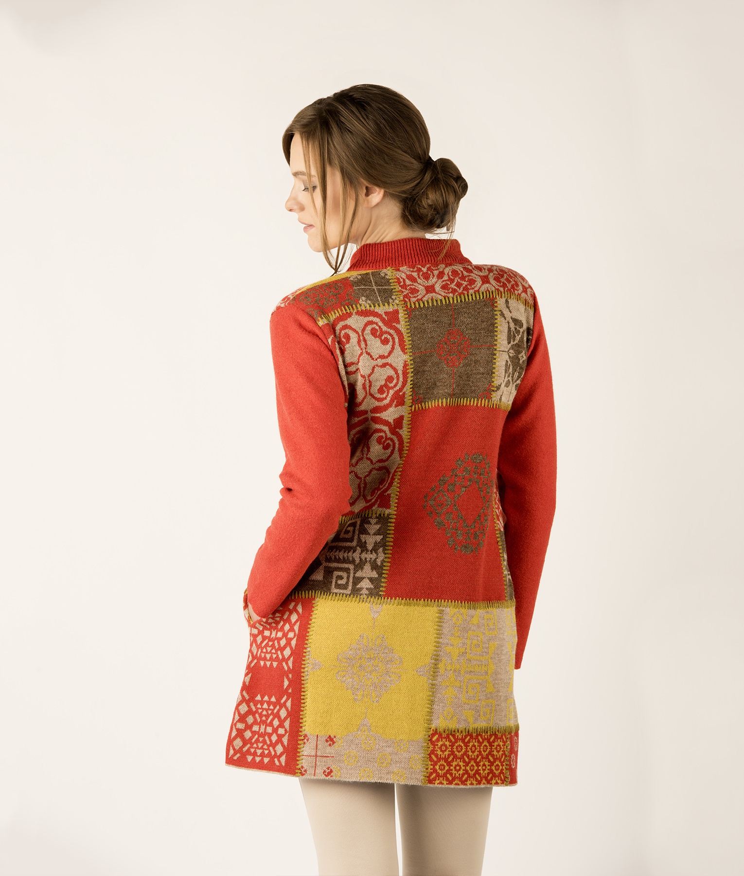 PATCHWORK COAT WITH POCKETS C002