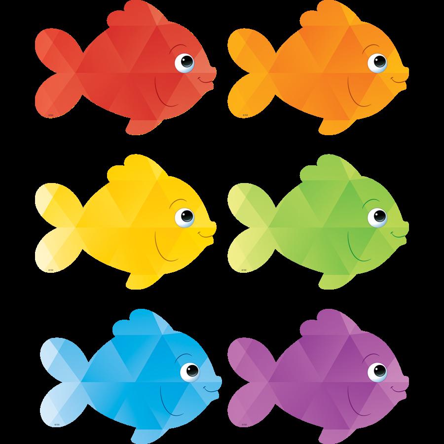 TCR 3549 COLORFUL FISH CUTOUTS