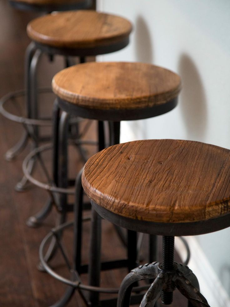 Rustic Swivel Bar Stools