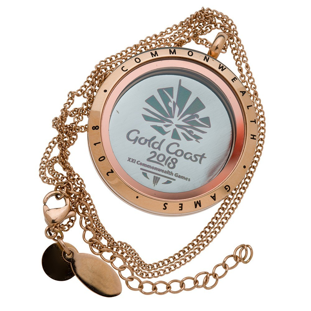 Commonwealth Games 2018 Rose Gold Locket with Statement Plate