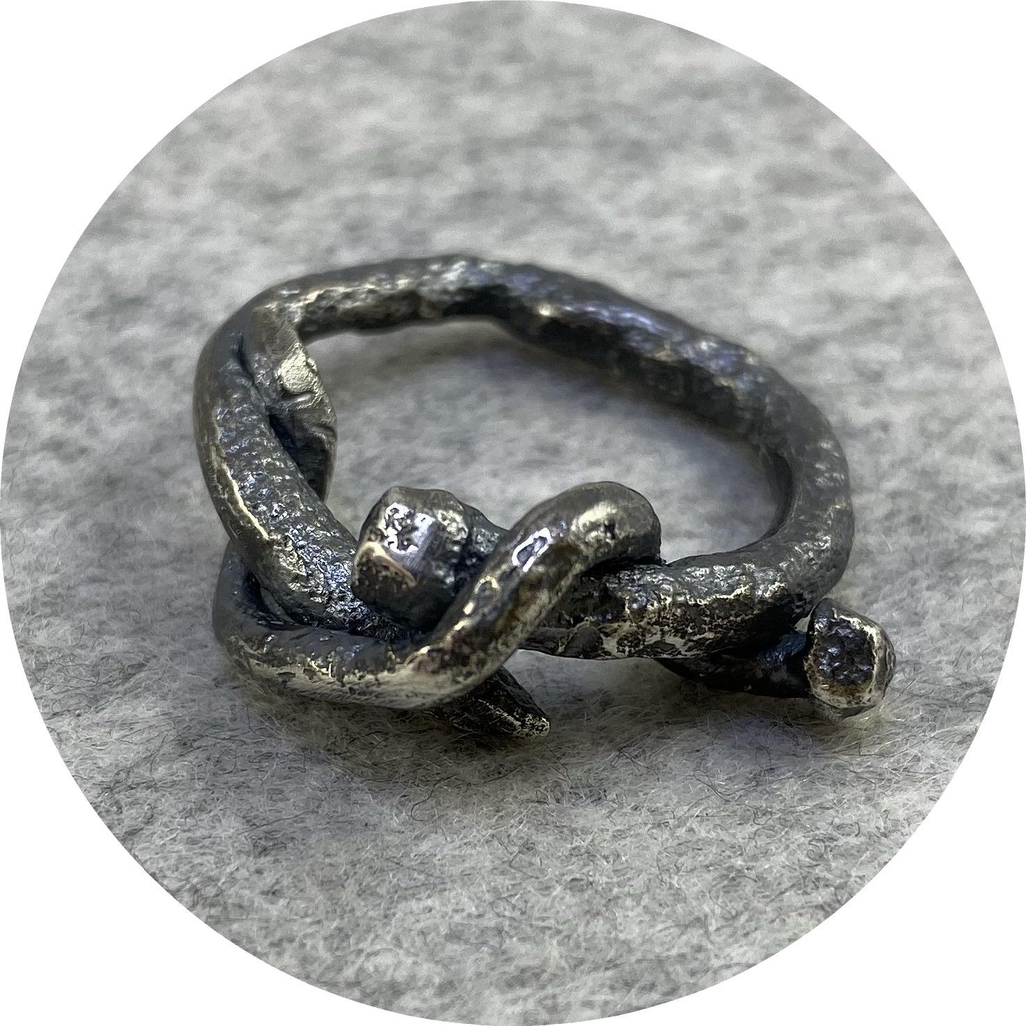 Maria Klingner - 'Nailed It Ring' 925 silver Q