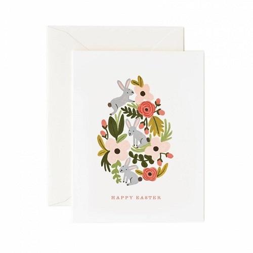 Floral Easter Egg Card