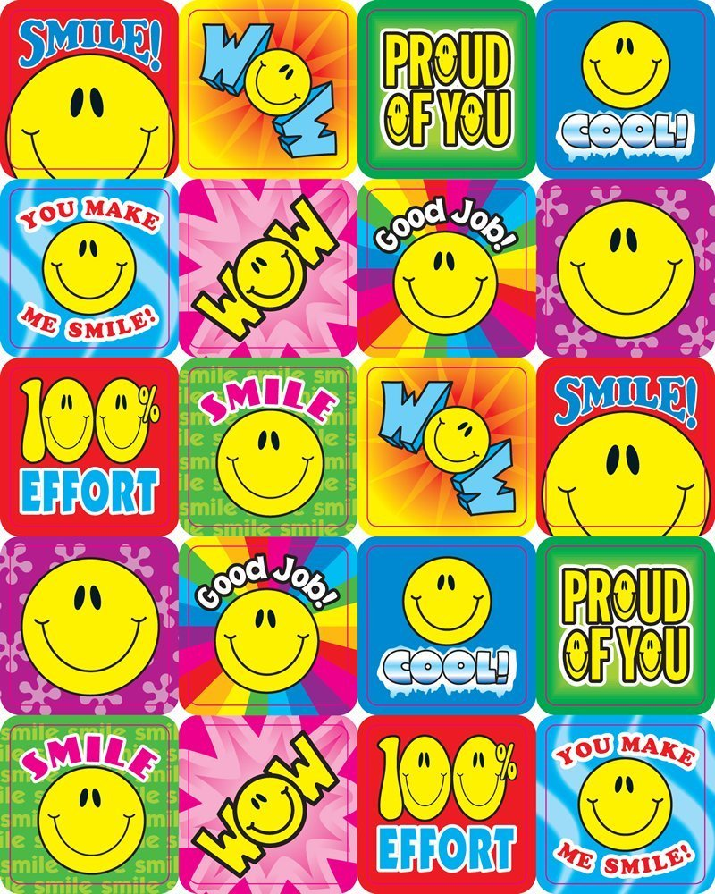 X DC CD 0632 SMILE FUN MOTIVATIONAL STICKERS
