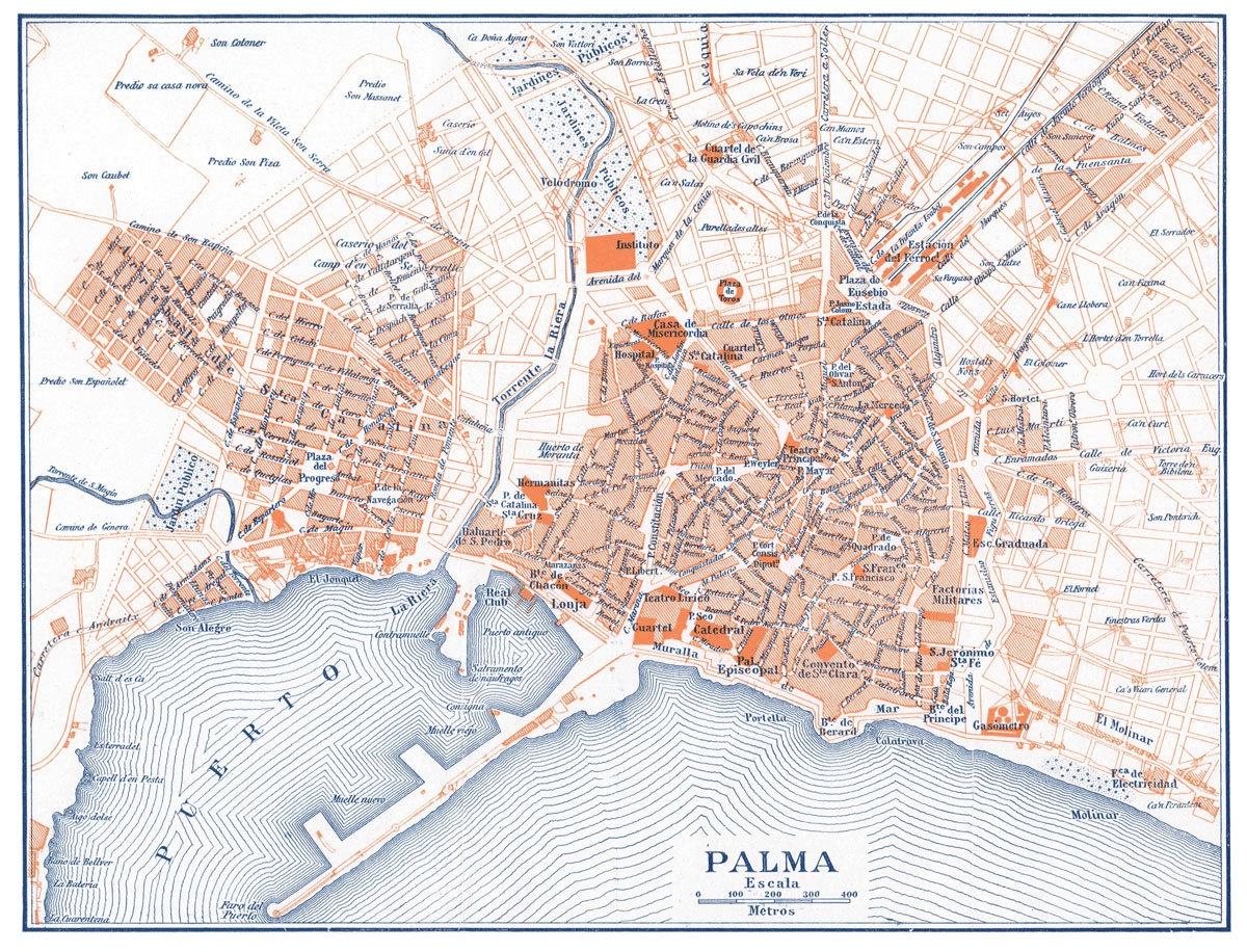 Palma Map | Print Only - Gallery Corner - Palma de Mallorca ...
