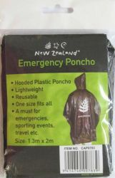 Emergency Poncho Silver Fern