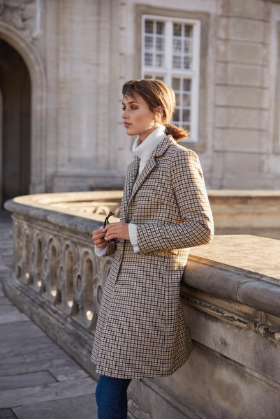 Part Two Sally Coat MA19 Small Check