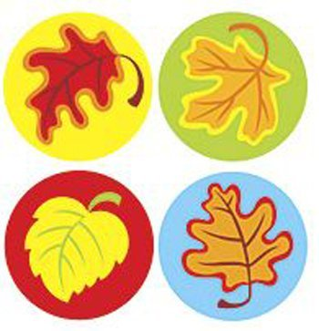 T 46177 FALL LEAVES STICKERS
