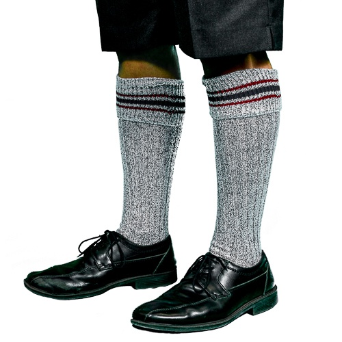Long Grey Socks