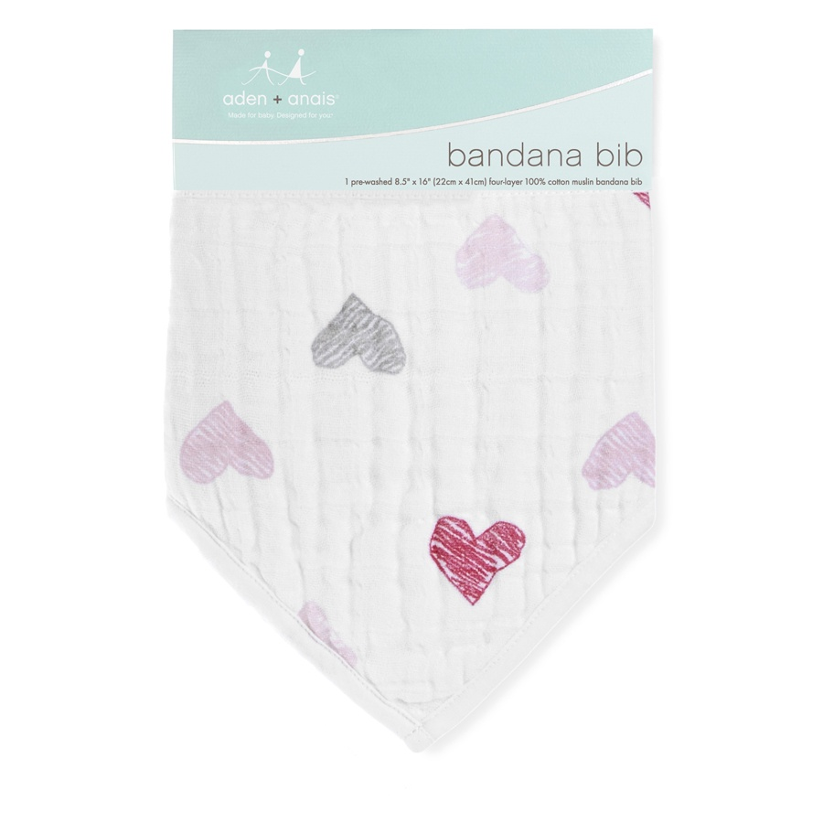 NWT aden anais Bandana Bib 100/% Cotton Muslin Soft Absorbent 4 Layers