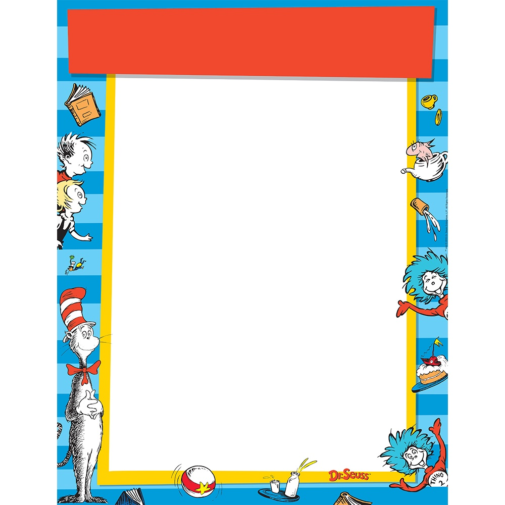 X EU 837237 DR. SEUSS CAT IN THE HAT BLANK CHART