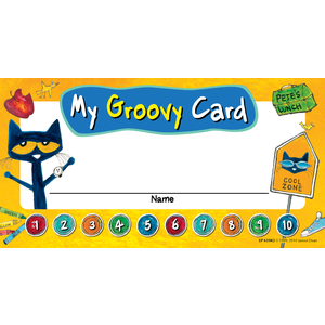 TCR 63942 PETE THE CAT MY GROOVY PUNCH CARDS