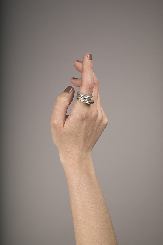 Annie Berner - Concave Rings Set