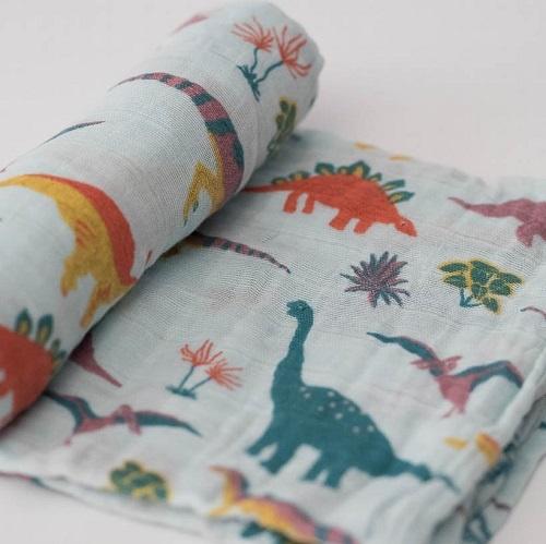 Cotton Swaddle | Embroidosaurus