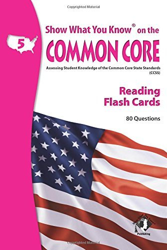 X NA 5505 SHOW WHAT YOU KNOW CC READING FLASH CARDS 5