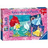 DISNEY PRINCESS 3 X 49 PUZZLES