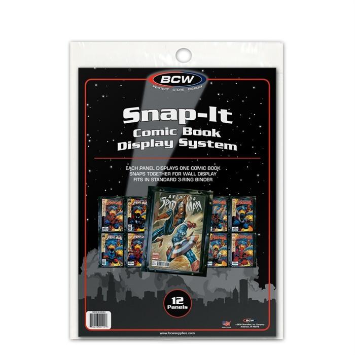 BCW Comic Book Snap-It Black