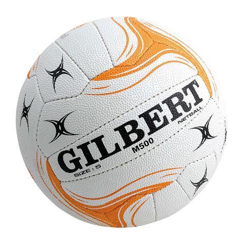 Gilbert State Match Ball (M500): White & Gold (size 5)