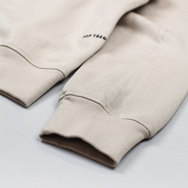 Pop Trading Company Full Zip Fleece Khaki